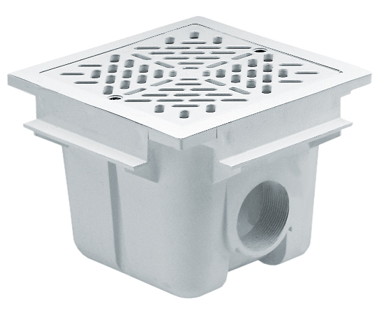 Astral Square main drain with ABS grille 210 mm x 210 mm